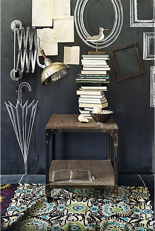 11b-Eclectic-hallway-chalkboard-paint-feature-wall-art-ideas-blackboard-effect