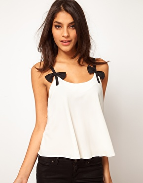 ASOS Cami With Contrast Bow Straps$37.40NOW $25.50