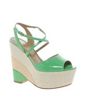 Moschino Cheap and Chic Kigelia Patent Wedge Sandals$731.00 NOW $219.30