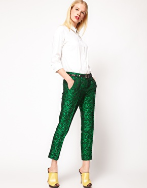 ASOS Premium Cropped Pants in Spot Print$76.50