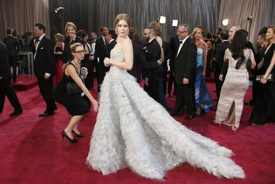 """Amy Adams, best supporting actress nominee for her role in """"The Master,"""" arrives at the 85th Academy Awards in Hollywood"""