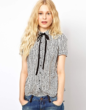 River Island Polka Dot Dolly Shirt $39.86