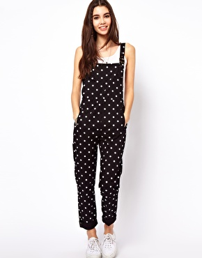 ASOS Spot Print Dungarees in Twill $71.75
