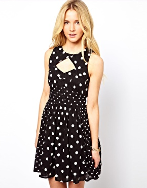 ASOS Sundress In Spot Print $55.81