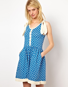 Orla Kiely Flower Polka Dot Sundress with Silk Bows $231.20