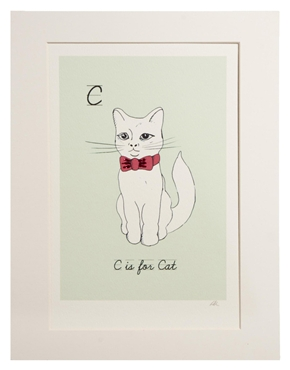 ASOS Rosie Wonders C is For Cat Hand Decorated Print $47.61